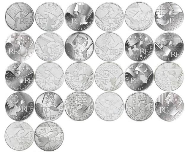 Euro des Régions : 26 Régions 26 Pièces Monnai10