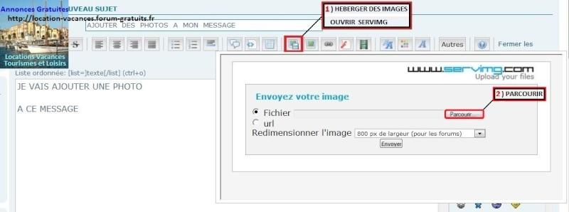 Ajoutez des photos à vos messages, Méthode pour utiliser Servimg Captur14