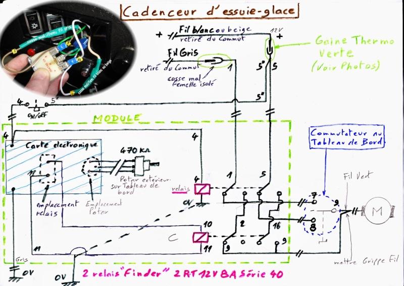 montage  cadenceur d'essuie-glace phase 1 Schema10