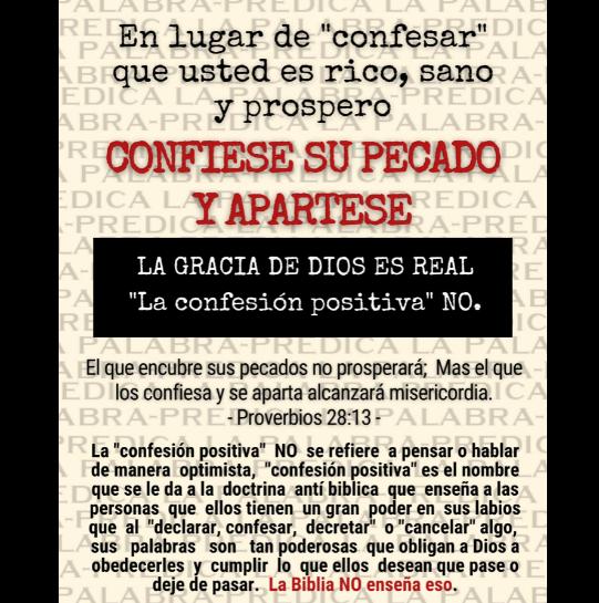 La confesión positiva es una corriente filosófica NO CRISTIANA 19-04-11