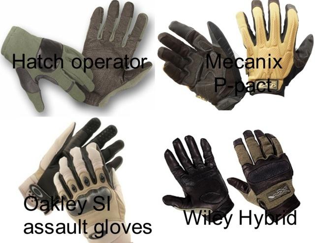 US Army Grunt Kit list universelle  Gants10