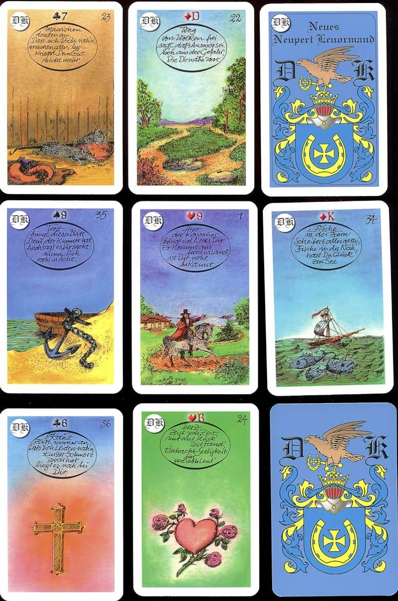 Les différentes versions des  cartes Lenormand - Page 10 Exempl11