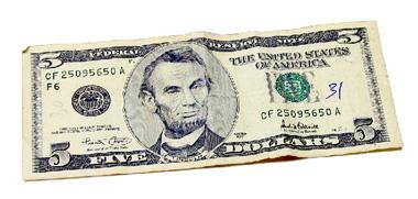 Schimbă imaginea de pe bancnota de cinci dolari cu o altă imagine O_2f1b10