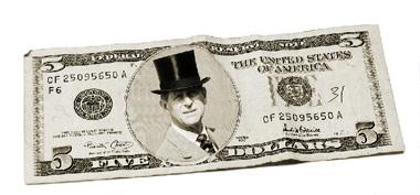 Schimbă imaginea de pe bancnota de cinci dolari cu o altă imagine O_2f1b17