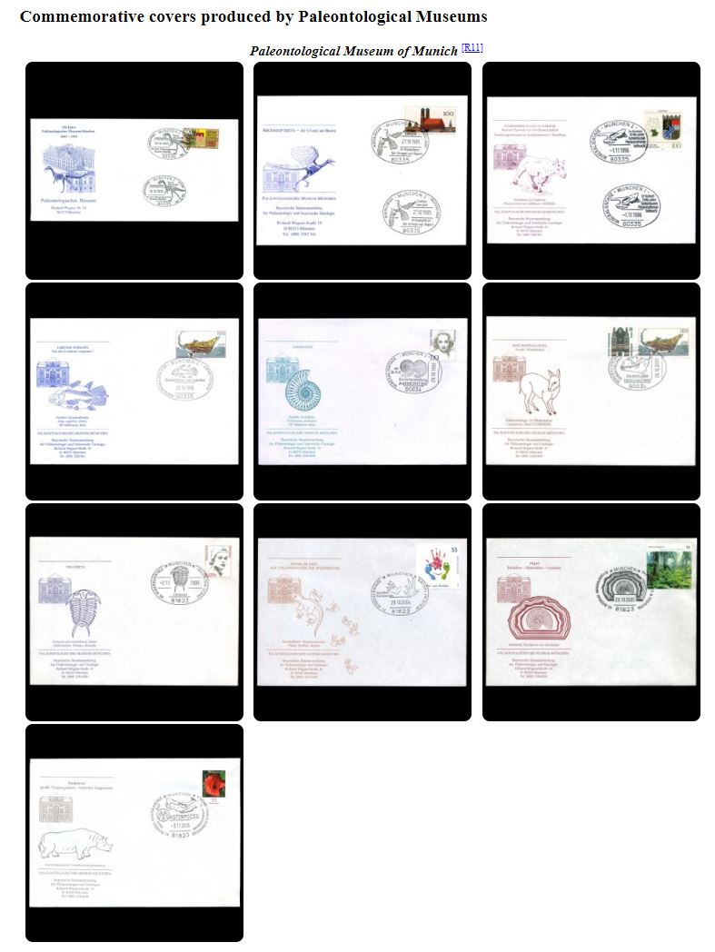 Paleophilatelie: Paläontologie und Philatelie  - Seite 2 Covers10
