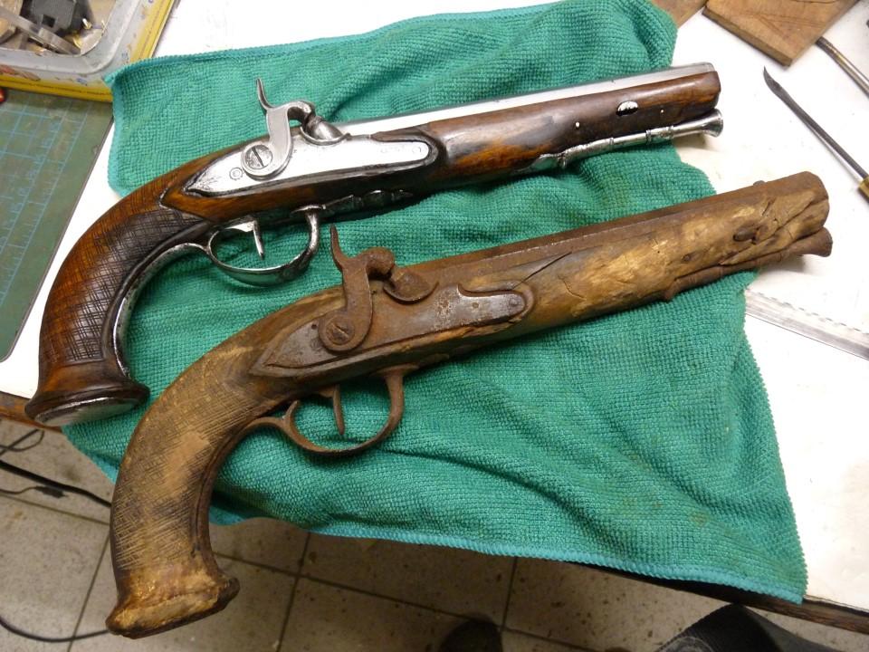 Restauration pistolets 1er Empire et Restauration   P1210323