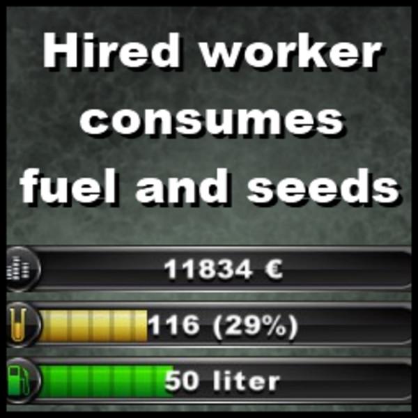 Lavoratore assunto Consuma carburante e Semi v2.0 Hired-10