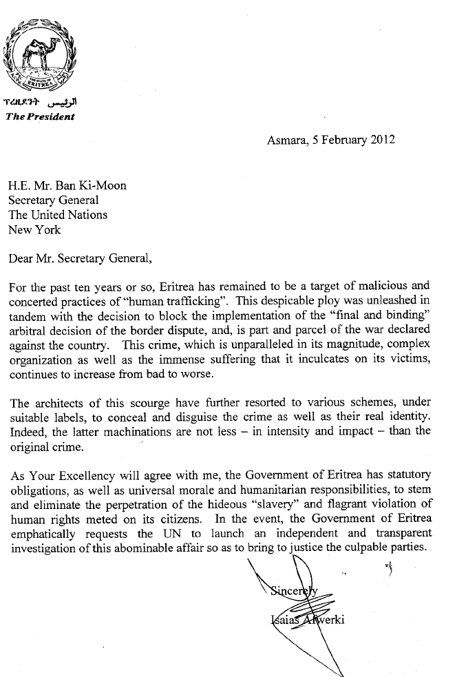 PIA sent a letter to H.E. Mr. Ban Ki-Moon Viewer11