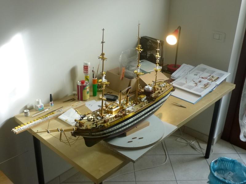 Il mio primo cantiere navale, Amerigo Vespucci, scala 1/100 DeA - Pagina 5 Dmc_0013