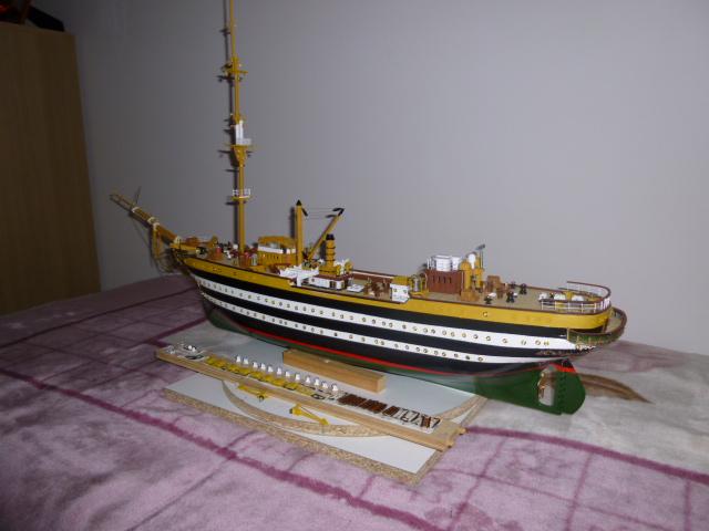 Il mio primo cantiere navale, Amerigo Vespucci, scala 1/100 DeA - Pagina 5 P1010211