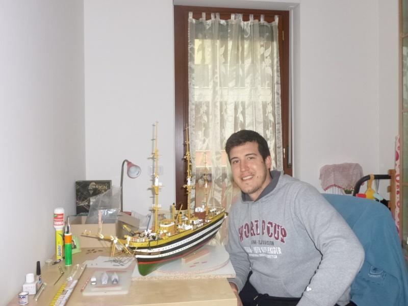 Il mio primo cantiere navale, Amerigo Vespucci, scala 1/100 DeA - Pagina 5 P1010413