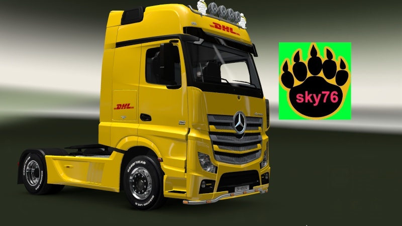 [ETS2] [NEW] DHL Mercedes Benz Actros MPIV by DANZ alfa. skin by sky76 Ets2_010