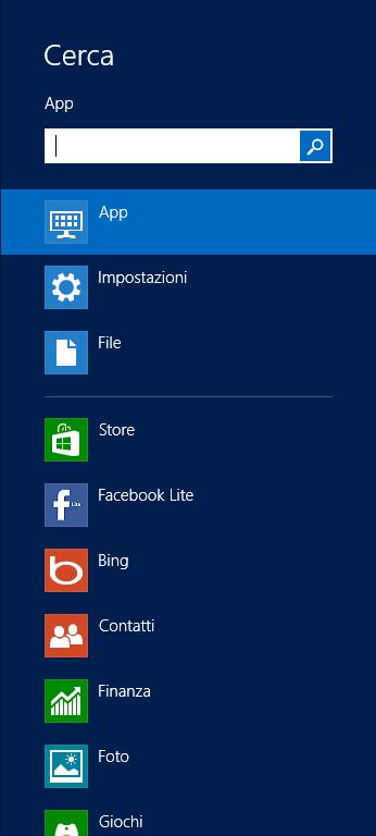 Come funziona Windows 8 Cerca10