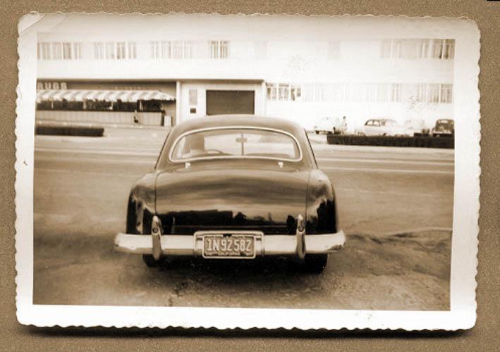 custom cars in the street ( 1950's & 1960's) 49ford11