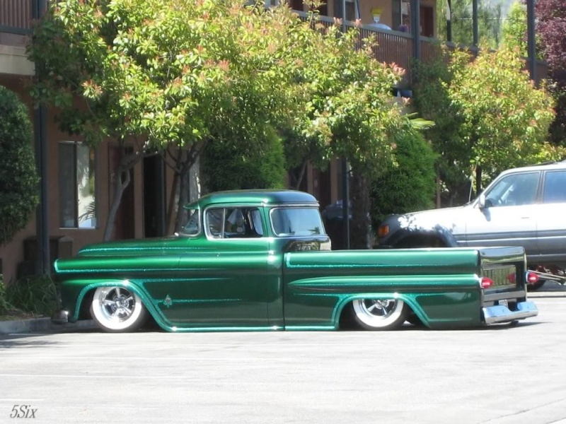 Chevy pick up  1955 - 1959 custom & mild custom 54mvbq10