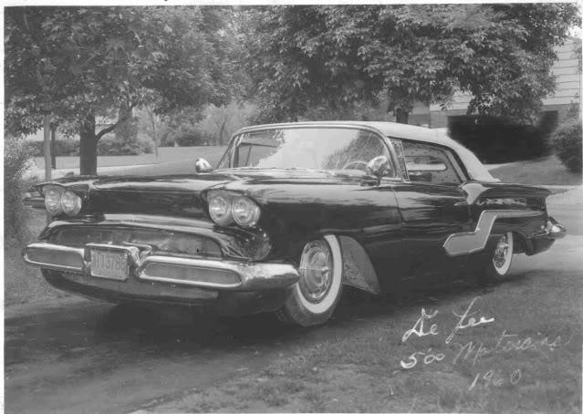 custom cars in the street ( 1950's & 1960's) 58chev10