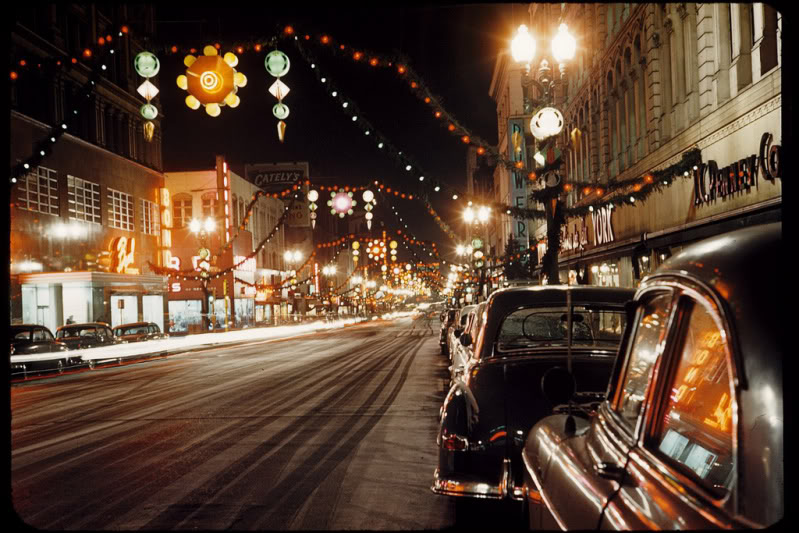 Rues fifties et sixties avec autos - 1950's & 1960's streets with cars A79710