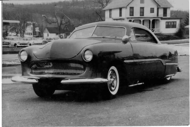 custom cars in the street ( 1950's & 1960's) East-110