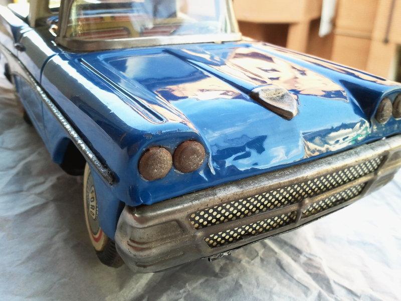 us car -  tôle - Tin Toys -  1950's & 1960's Img20115