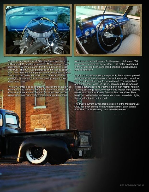 Chevy Pick up 1947 - 1954 custom & mild custom Kgrhqr58