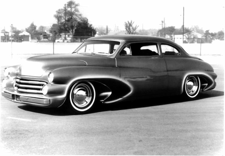custom cars in the street ( 1950's & 1960's) L136-v10