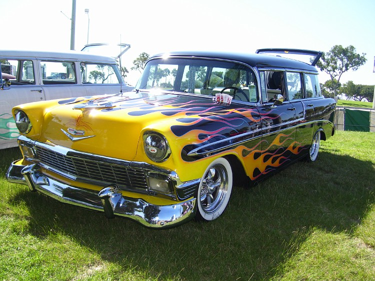 Chevy 1956 custom & mild custom Longbe15