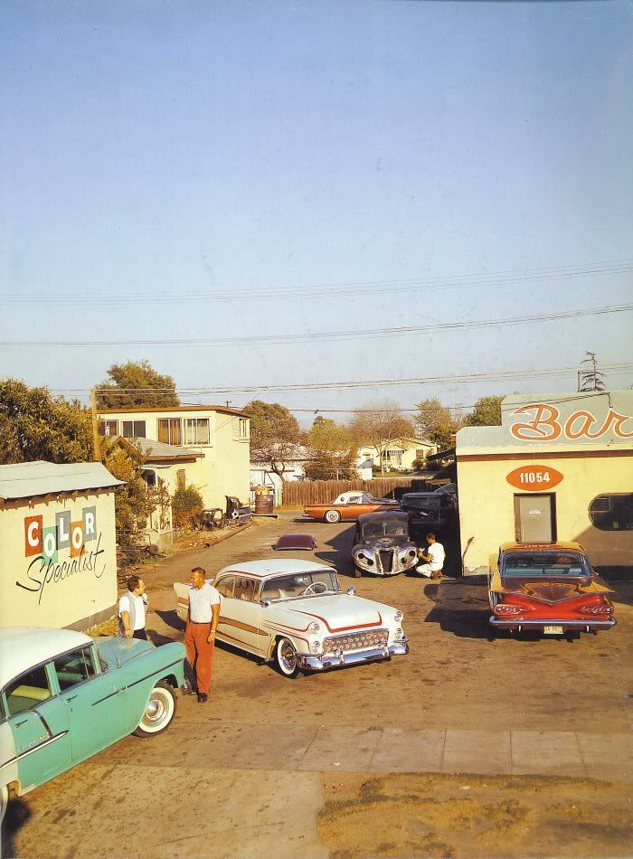 Barris kustom shop in the 1950's Tumblr48