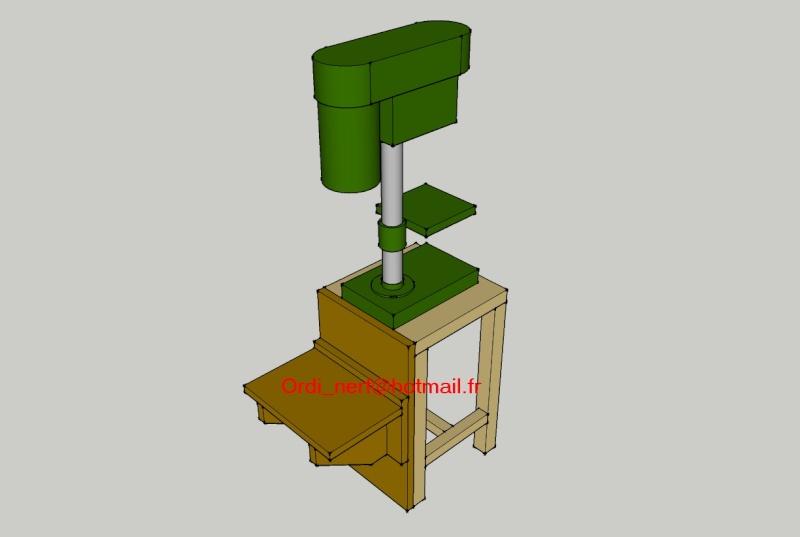 Perceuse à colonne pour perçage en plein bois Suppor10