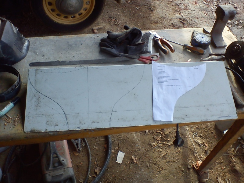 Fabrication embout d'échappement queue de poisson (queue de carpe) pour cyclecar 16_02_11