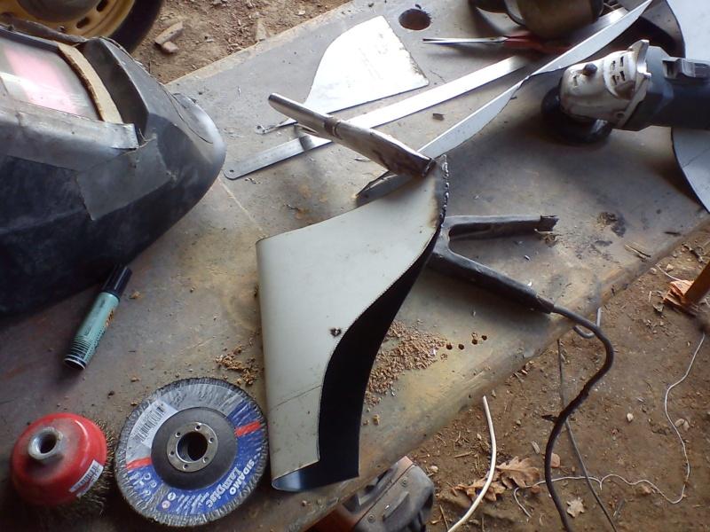 Fabrication embout d'échappement queue de poisson (queue de carpe) pour cyclecar 16_02_15