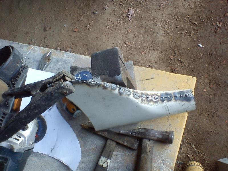 Fabrication embout d'échappement queue de poisson (queue de carpe) pour cyclecar 16_02_16