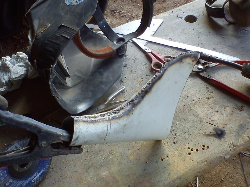 Fabrication embout d'échappement queue de poisson (queue de carpe) pour cyclecar 16_02_18