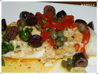 Tilapia au beurre à l'ail et aux olives Tilapi10