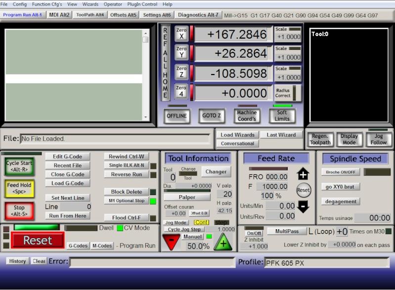 CNC de la proxxon mf 70 à la bzt pfk px 605 Mach3s10