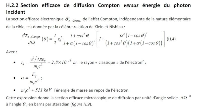 coefficient d'attenuation linéique μ  Klein_11