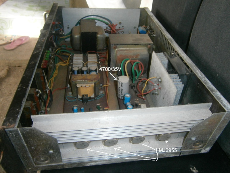 Booster amplifier using MJ2955