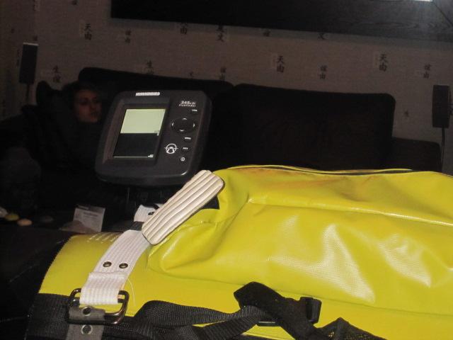 montage d'un sondeur sur mon float tube Jmc 03110