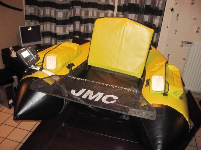 montage d'un sondeur sur mon float tube Jmc 03210