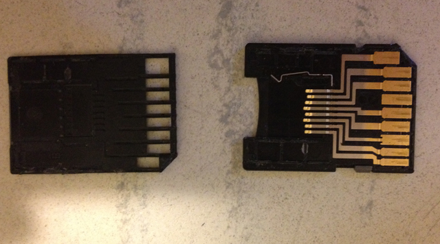 Modification d'un adaptateur micro SD en GameCard 010