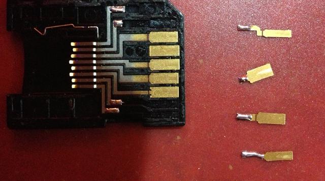Modification d'un adaptateur micro SD en GameCard 310