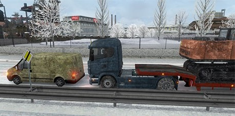 [ETS2] Winter AI + truck + trailer Snow-m10
