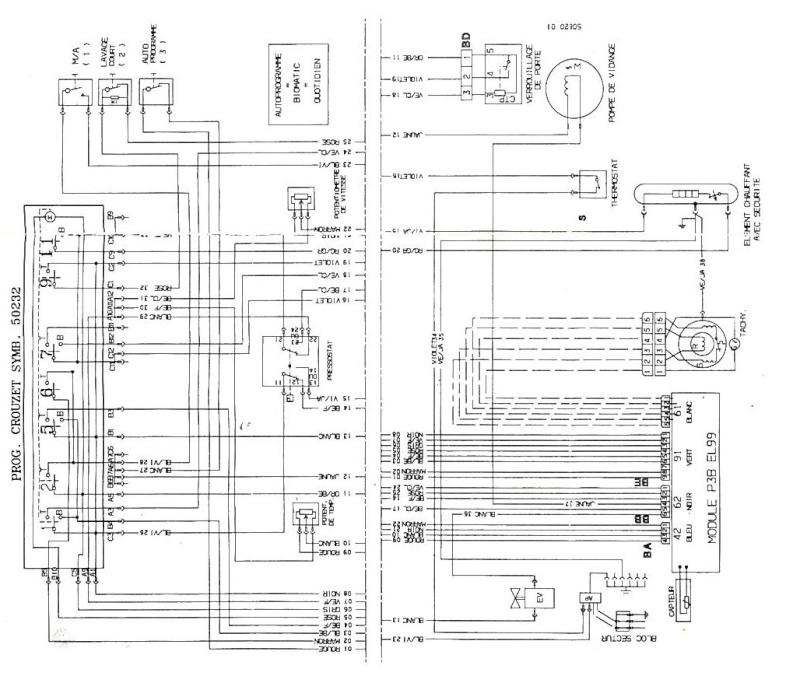 s u00e9lectionner  cablage moteur machine  u00c0 laver pour la