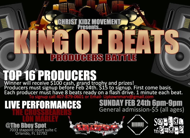King Of Beats: Producer Battle & Networking Opportunity (ORLANDO/WINTER PARK) 79815510