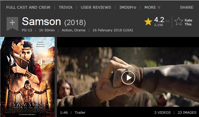 فيلم الاكشن والدراما الرائع Samson (2018) 720p BluRay مترجم بنسخة البلوري 2018-020