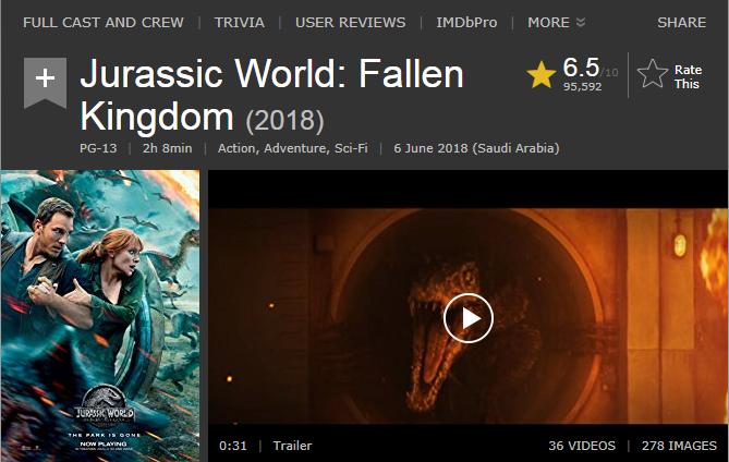 حصريا فيلم الاكشن والمغامرة والخيال الرهيب والمنتظر Jurassic World Fallen King (2018)  720p BluRay مترجم بنسخة البلوري 2018-111