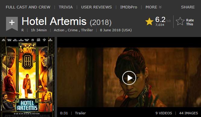 حصريا فيلم الاكشن والجريمة والاثارة الرائع Hotel  Artemis (2018)  720p  BluRay مترجم بنسخة البلوري 2018-188