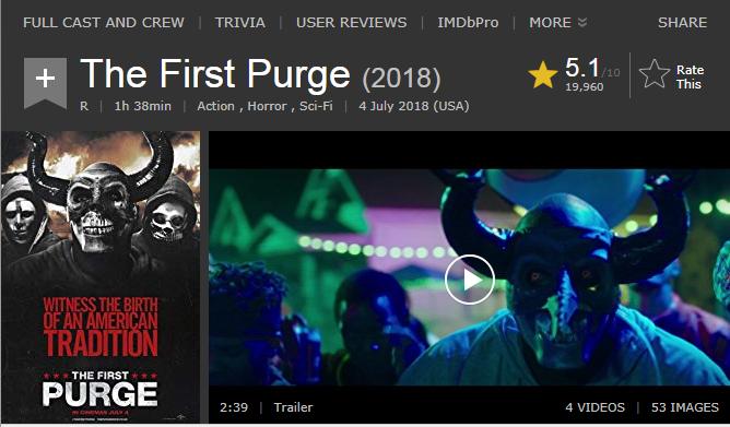 حصريا فيلم الاكشن والرعب والخيال الرائع The First Purge (2018) 720p BluRay مترجم بنسخة البلوري 2018-190