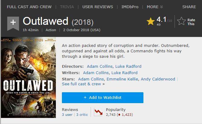 حصريا فيلم الاكشن الجميل Outlawed (2018) 720p WEB-DL مترجم بنسخة الويب ديل 2018-219