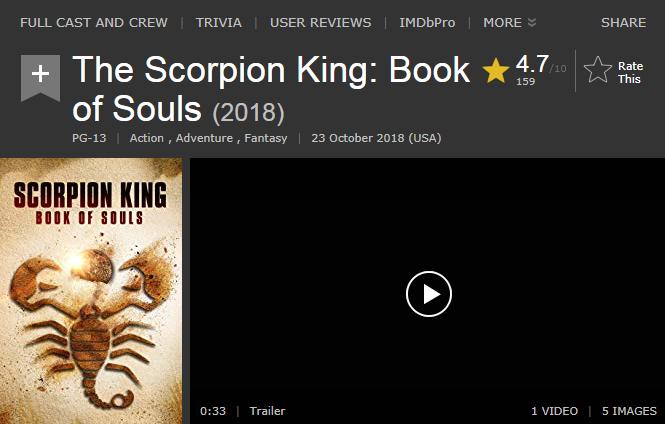 حصريا فيلم الاكشن والمغامرة والفنتازي الرائع The Scorpion King Book of Souls (2018) 720p WEB-DL مترجم بنسخة الويب ديل 2018-234