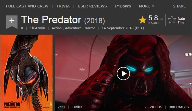 حصريا فيلم الاكشن والمغامرة والرعب المنتظر The Predator (2018) 720p WEB-DL مترجم بنسخة الويب ديل 2018-273